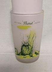Blakley Oil Rare Juice Glass w Barrell Cactus - Product Image