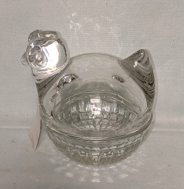Clear Glass Upright Chick on the Nest - Product Image