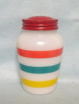 Fire king Colonial Stripes on White Range Shaker - Product Image