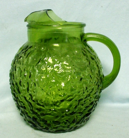 Fire king Lido Avocado Green 80oz.Upright Ball Pitcher - Product Image