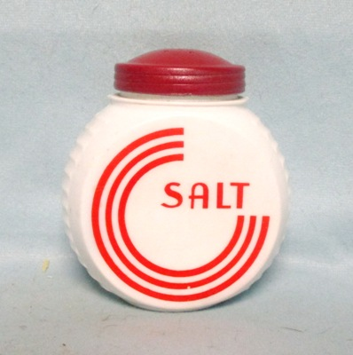 Fire king Red Circles on Vitrock Salt Shaker - Product Image