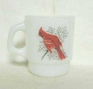 Fireking Cardinal Bird Stackable Mug - Product Image