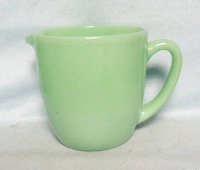 Fireking Jadite 20 oz. Plain Milk Pitcher - Product Image