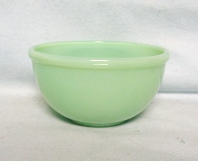 "Fireking Jadite 4 7/8"" Bead Edge Mixing Bowl - Product Image"
