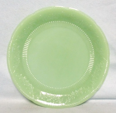 "Fireking Jadite Alice 9 1/2""Dinner Plate - Product Image"