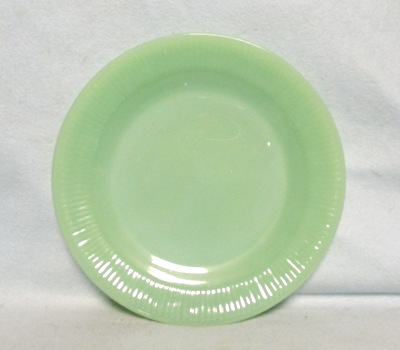 "Fireking Jadite Jane Ray 7 3/4""Salad Plate - Product Image"
