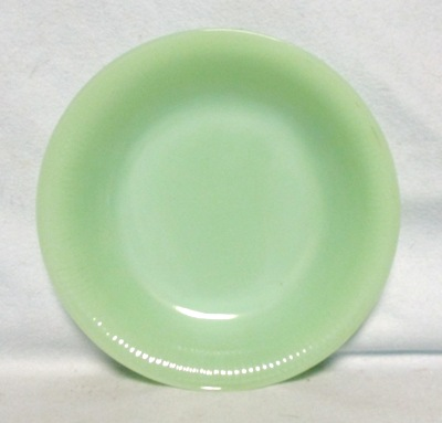 "Fireking Jadite Jane Ray 7 5/8""Soup Plate - Product Image"