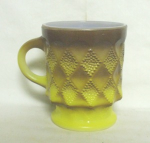 Fireking Kimberly Tu-Tone Yellow & Brown Coffee Mug - Product Image