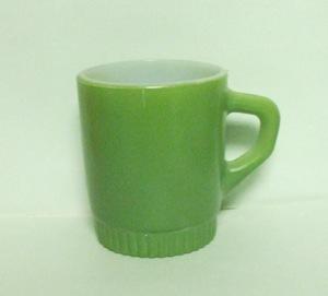Fireking Olive Green Stackable Mug w Ribbed Base - Product Image