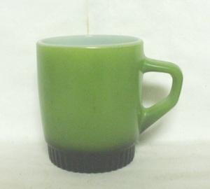 Fireking Olive Green w Black Ribbed Base Stackable Mug - Product Image