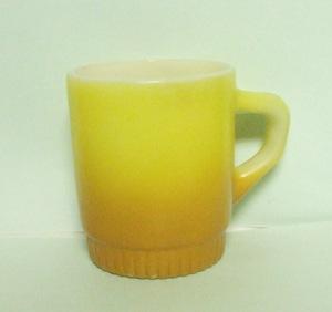 Fireking TuTone Gold Stackable Mug w Ribbed Base - Product Image
