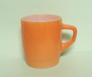 Fireking TuTone Orange Stackable Mug w Ribbed Base - Product Image