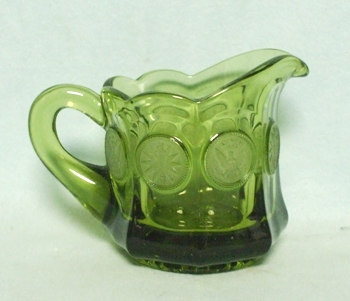 Fostoria Green Coin Glass Creamer - Product Image