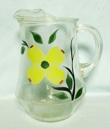 "Gay Fad/Bartlette Collins Yellow Flowered 9 1/2""Pitcher - Product Image"