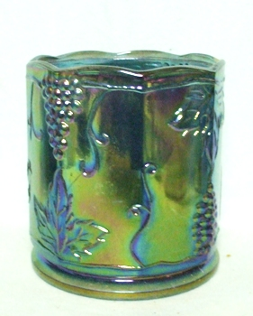 Indiana Glass Harvest Pattern Blue Carnival Med. Canister no lid - Product Image