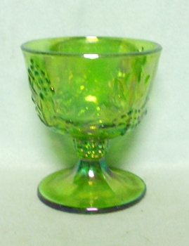 Indiana Glass Harvest Pattern Lime Green Carnival Sugar - Product Image