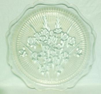 "Iris & Herringbone Clear 11 1/2"" Sandwich Plate - Product Image"