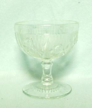 "Iris & Herringbone Clear 4"" Tall Footed Sherbert. - Product Image"