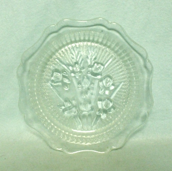 "Iris & Herringbone Clear 5 1/2"" Sherbert Plate - Product Image"