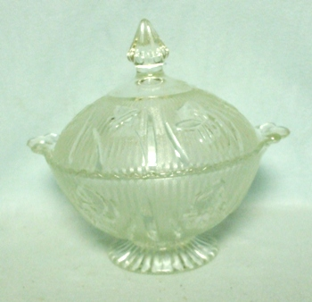 Iris & Herringbone Clear Candy Jar and Lid - Product Image