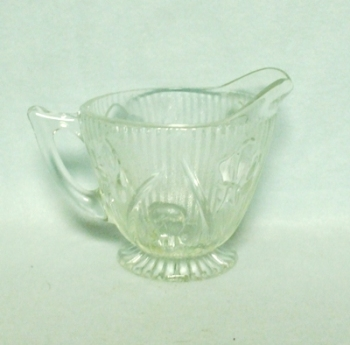 Iris & Herringbone Clear Footed Creamer - Product Image