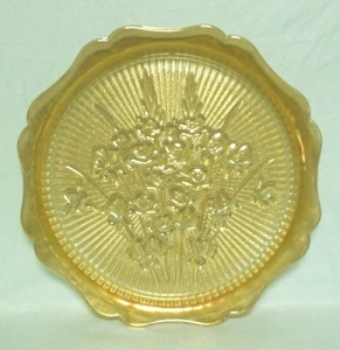 """Iris & Herringbone Iridescent 11 3/4"""" Sandwich Plate - Product Image"""
