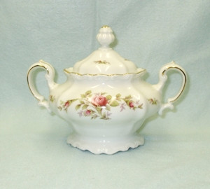 John Haviland Moss Rose Sugar Bowl & Lid - Product Image