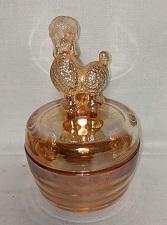Marigold Carnival Poodle Powder Box w Lid - Product Image