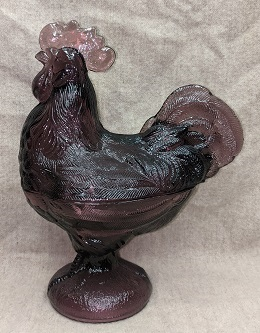 Martha Stewart Purple Carnival Large Rooster on Nest - Product Image