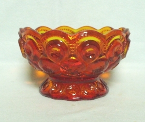 "Moon & Star Amberina #6224 4 1/2"" Small Candy no Lid - Product Image"
