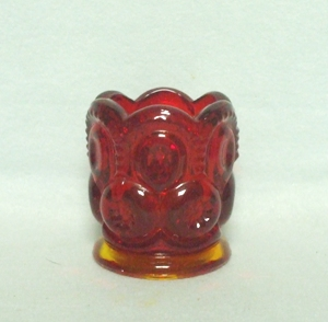 Moon & Star Amberina Toothpick Holder - Product Image