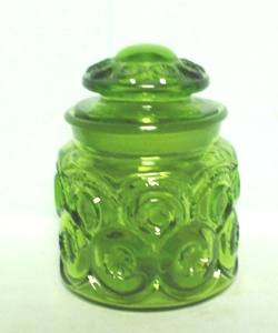 Moon & Star Antique Green 1 lb. Canister & Lid - Product Image