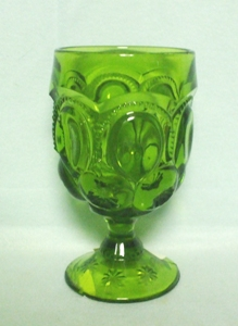 "Moon & Star Antique Green 11oz  6"" Ftd Goblet - Product Image"