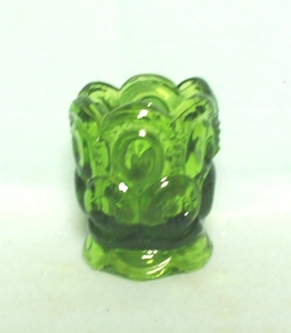 Moon & Star Antique Green #4211 Toothpick Holder - Product Image