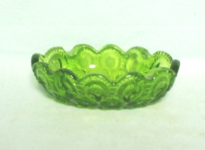 Moon & Star Antique Green #4240 Oval Ashtray - Product Image