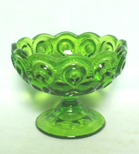 Moon & Star Antique Green #5283 Small Compote - Product Image