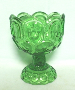 "Moon & Star Antique Green #5291 -5 1/2"" Compote - Product Image"