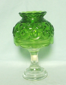 Moon & Star Antique Green #6227 Candle Lamp - Product Image
