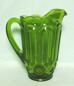 Moon & Star Antique Green #6228- 2 1/2 pt. Pitcher - Product Image