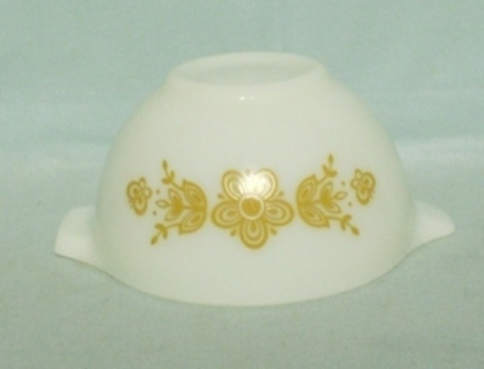 "Pyrex Butterfly Gold White Cinderella 6"" Mixing Bowl - Product Image"