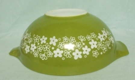 "Pyrex Spring Blossom Cinderella 10 1/2"" Green Mixing Bowl - Product Image"