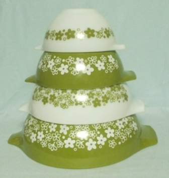 Pyrex Spring Blossom Cinderella 4 Piece Mixing Bowl Set - Product Image