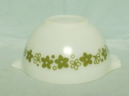 "Pyrex Spring Blossom Cinderella 6"" White Mixing Bowl - Product Image"