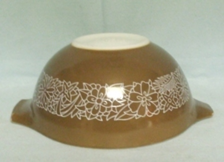 "Pyrex Woodland Dark Brown Cinderella 7 1/2"" Mixing Bowl - Product Image"