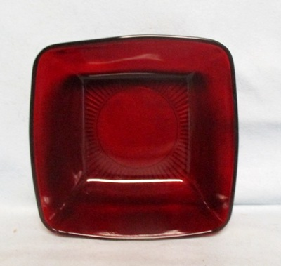 "Royal Ruby Charm 8"" Square Serving Bowl(RARE) - Product Image"
