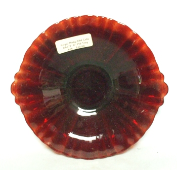 """Royal Ruby Old Cafe #A977- 8"""" Footed Tray no Handle - Product Image"""