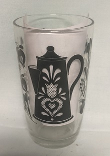 "Swanky Swig Black Coffee Pot & Trivet 3 3/4"" Tall - Product Image"