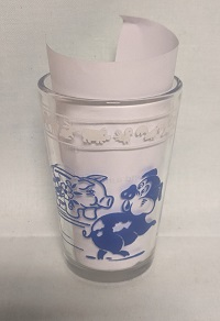 "Swanky Swig Blue Pig & Bear Kiddie Cup 3 1/4"" Tall - Product Image"