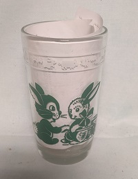 "Swanky Swig Green Cat & Rabbit Kiddie Cup 3 3/4"" Tall - Product Image"