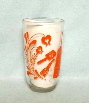 "Swanky Swig Orange Churn & Cradle 3 1/2"" Tall - Product Image"